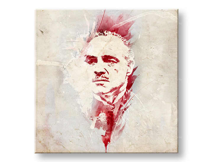 Пана за стена Tom Loris - Godfather Marlon Brando - AQUArt 006AA1