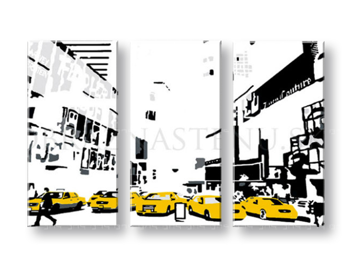 Картини за стена Pop Art NEW YORK 3 части 120x80cm
