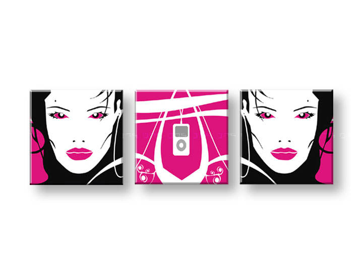 Картини за стена Pop Art I-GIRL 3 части 150x50cm