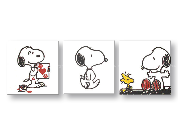 Картини за стена Pop Art SNOOPY 3 части 150x50cm