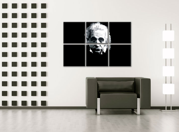 Картини за стена Pop Art Einstein 6 части 150x100cm