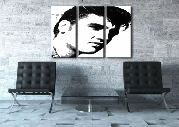 Картини за стена Pop Art ELVIS 3 части 120x80cm