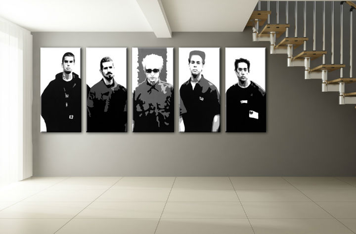 Картини за стена Pop Art LINKIN ПАРК 5 части 200x80cm