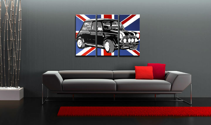 Картини за стена Pop Art MINI COOPER 3 части 120x80cm