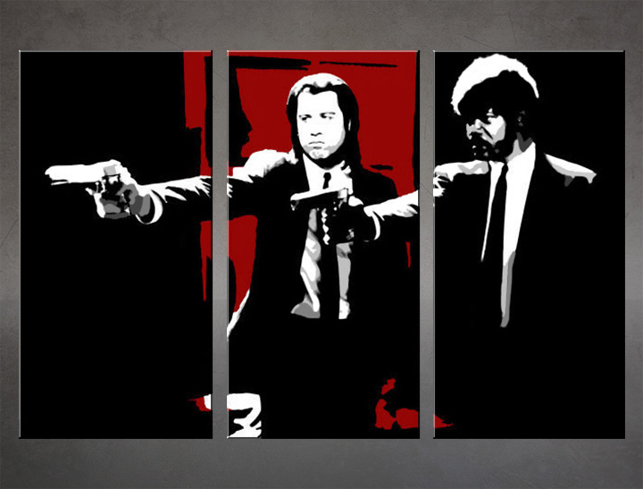 Картини за стена Pop Art Pulp Fiction 3 части 120x80cm