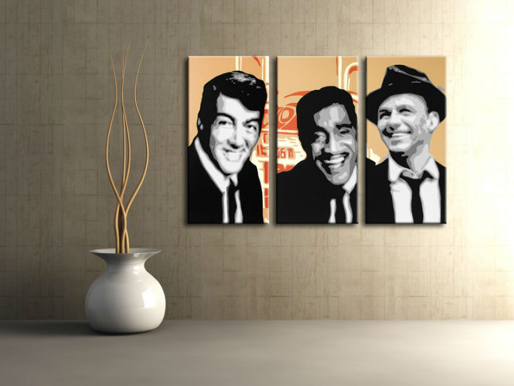 Картини за стена Pop Art Rat Pack 3 части 120x80cm