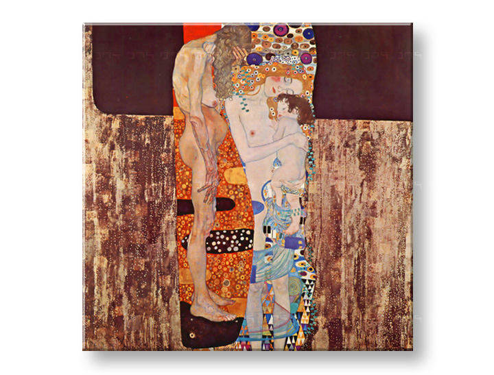 Картини на платно THREE AGES OF WOMAN - Gustav Klimt