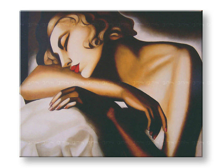 Картини на платно GIRL SLEEPING - Tamara de Lempicka