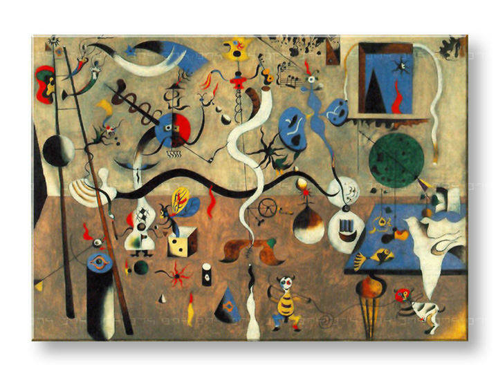 Картини на платно CARNIVAL OF HARLEQUIN - Joan Miro