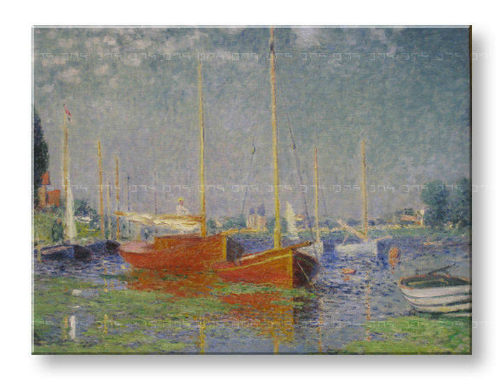 Картини на платно RED BOATS AT ARGENTEUIL - Claude Monet