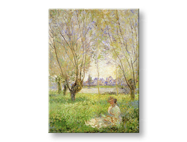 Картини на платно WOMAN UNDER THE WILLOWS - Claude Monet