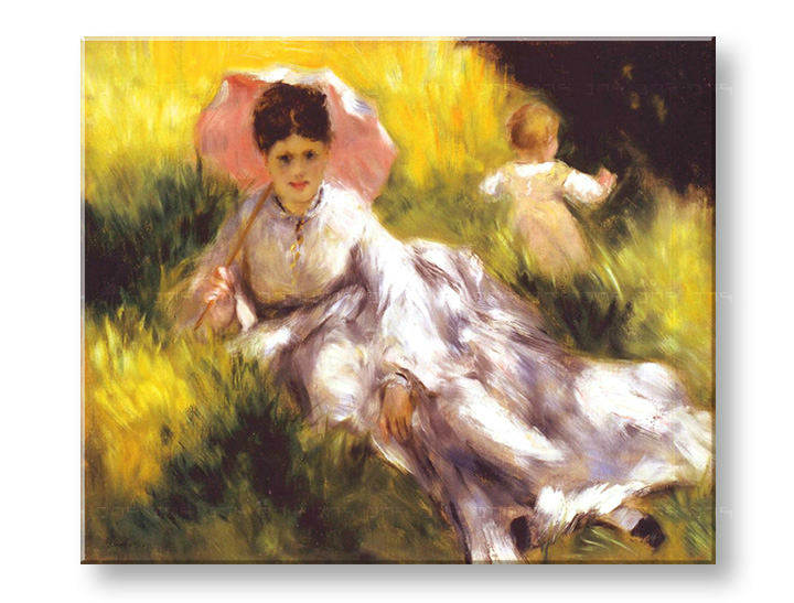 Картини на платно WOMAN WITH A PARASOL - Pierre Auguste Renoir